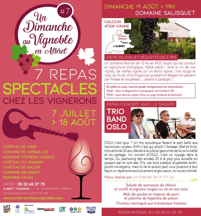 dimanche au vignoble à Salisquet : le 11 août 2019